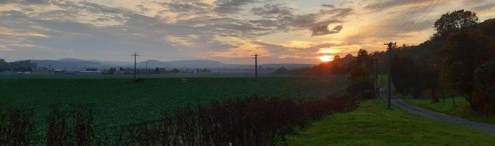 Západ slnka na prešovačke
